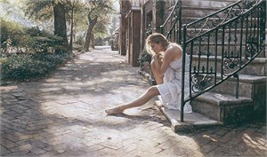 "Steve Hanks Handsigned & Numbered Limited Edition:""One Step at a Time """