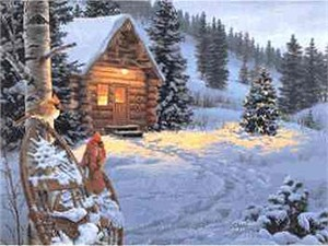 """Darrell Bush Open Edition Print: """"Winter Colors"""""""