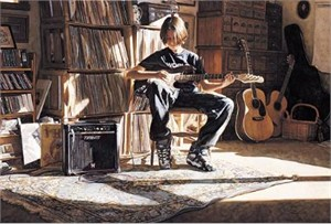 "Steve Hanks Handsigned & Numbered Limited Edition Print:""It's His Time Now "" w/ Free Companion Print"
