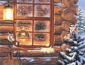 """Darrell Bush Open Edition Print: """"Winter's Retreat"""""""
