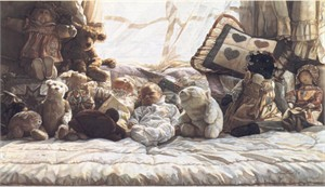 """Steve Hanks Handsigned & Numbered Limited Edition Canvas Giclee:""""Things Worth Keeping"""""""