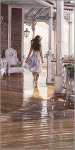 "Steve Hanks Hand Signed and Numbered Limited Edition Anniversary Canvas Giclée :""Sunshine After the Rain"""