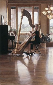 "Steve Hanks Handsigned & Numbered Limited Edition Print:""Private Recital"""