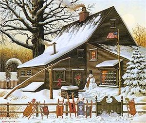 "Charles Wysocki Legacy Collection Limited Edition Print:""Cocoa Break at the Copperfields"""