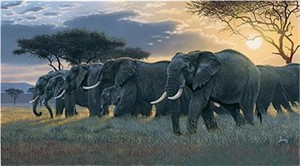 "Al Agnew Handsigned & Numbered Limited Edition Enhanced Giclee on Canvas:""Rush Hour"""