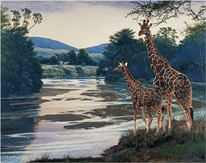 """Al Agnew Handsigned & Numbered Limited Edition Enhanced Giclee on Canvas:""""Safekeeping"""""""