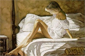 "Steve Hanks Handsigned & Numbered Limited Edition Print:""Sheets of White"""