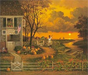 "Charles Wysocki Legacy Collection Limited Edition:""Supper Call"""