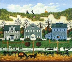 """Charles Wysocki Handsigned and Numbered Limited Edition:""""Nantucket Winds"""""""