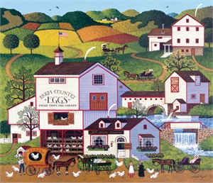 "Charles Wysocki Open Edition Print:""Virginia's Nest"""