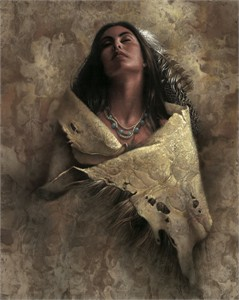 """Lee Bogle Handsigned and Numbered Limited Edition Giclee on Canvas: """"At Peace"""""""