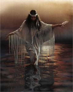 "Lee Bogle Handsigned and Numbered Limited Edition Giclee on Canvas: ""Golden Reflections"""