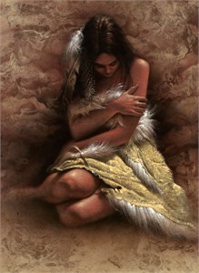 "Lee Bogle Handsigned and Numbered Limited Edition Giclee on Canvas: ""Quiet Solitude"""