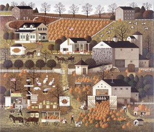 "Charles Wysocki Unsigned Open Edition Giclee on Canvas: ""Bread and Butter Farms"""