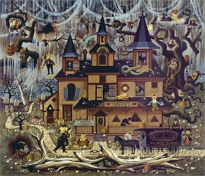 """Charles Wysocki Unsigned Open Edition Giclee on Canvas: """"Sweetheart Hotel """""""