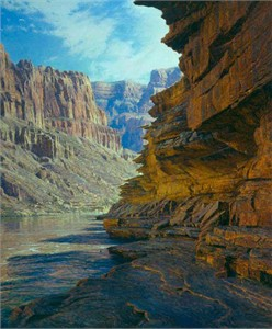 """Curt Walters Handsigned and Numbered Limited Edition Giclee on Canvas:""""Ledges of the Tapeats"""""""