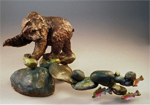"Mark Hopkins Limited Edition Bronze Sculpture: ""Famished - Alaska Series"""