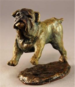 "Mark Hopkins Limited Edition Bronze Sculpture: ""Bulldog"""