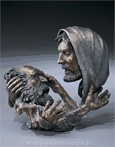 "Mark Hopkins Limited Edition Bronze Sculpture: ""Faith"" (small)"