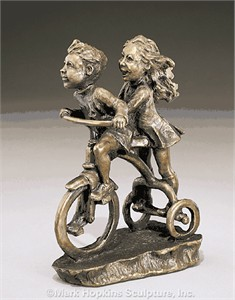 "Mark Hopkins Limited Edition Bronze Sculpture: ""Faster, Faster"""