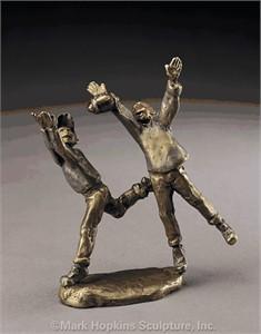 "Mark Hopkins Limited Edition Bronze Sculpture: ""Goin' Long"""