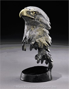 "Mark Hopkins Limited Edition Bronze Sculpture: ""Liberty"""