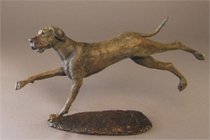 "Mark Hopkins Limited Edition Bronze Sculpture: ""Great Dane I"""