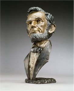 "Mark Hopkins Limited Edition Bronze Sculpture: ""Abraham Lincoln -Small"""