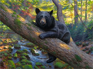 "Mark Keathley Hand Signed and Numbered Limited Edition Embellished Canvas Giclee:""Lazy Boy"""