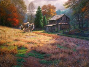 "Mark Keathley Hand Signed and Numbered Limited Edition Embellished Canvas Giclee:""The Legacy"""