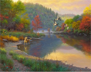 """Mark Keathley Hand Signed and Numbered Limited Edition Embellished Canvas Giclee:""""Fly By"""""""
