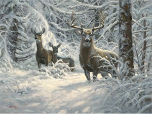"Mark Keathley Hand Signed and Numbered Limited Edition Embellished Canvas Giclee:""Winter Lace"""