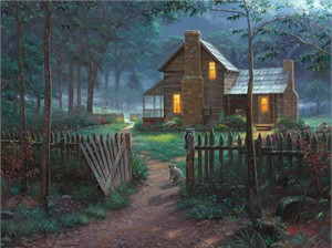 "Mark Keathley Hand Signed and Numbered Limited Edition Embellished Canvas Giclee:""Welcome Summer"""
