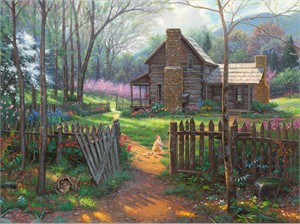 "Mark Keathley Hand Signed and Numbered Limited Edition Embellished Canvas Giclee:""Welcome Spring (A Time For Renewal)"""