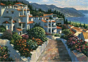 """Howard Behrens Limited Edition Serigraph on Paper: """"Mijas"""""""