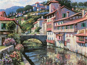 "Howard Behrens Limited Edition Serigraph on Paper: ""Morning in St Jean de Pied"""