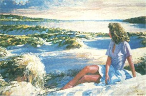 """Howard Behrens Limited Edition Serigraph on Paper: """"Summer Sunset"""""""