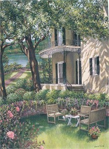 """Laurie Brussel Limited Edition Gicle�e on Paper: """"Down by the River on Paper"""""""
