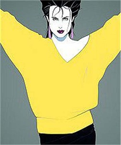 "Patrick Nagel Limited Edition Serigraph on Paper: ""Commemorative #8"""