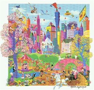 "Melanie Taylor Kent Limited Edition Serigraph on Paper Remarqued Edition:""Looney Tunes Takes Manhattan - Remarqued"""