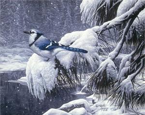 """Stephan Lyman Open Edition Fine Art Canvas Giclée:""""Twilight Snow"""""""