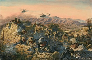 "James Dietz Handsigned and Numbered Limited Edition Print:""Strike Into The Heart Of The Taliban"""