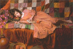 "Morgan Weistling Hand Signed and Numbered Limted Edition Giclée Canvas:""Patchwork Dreams """