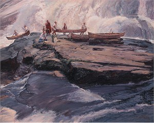 "John Buxton Hand Signed and Numbered Limited Edition Canvas Giclee:""A Brief Delay at the Wall"""