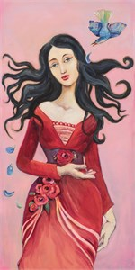 "Cassandra Barney Hand Signed and Numbered Canvas Giclee:""It Was Her Heart"""