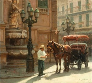 """Morgan Weistling Hand Signed and Numbered Limted Edition Giclée Canvas:""""Family Traditions """""""