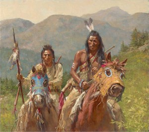 "Morgan Weistling Hand Signed and Numbered Limited Edition Canvas Giclée:""The Trackers"""