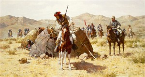 "Howard Terpning Hand Signed and Numbered Limited Edition Canvas Giclée:""The Second Geronimo Campaign"""