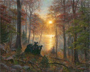 """Mark Keathley Limited Edition Hand-Embellished Canvas Giclee:""""Rise and Shine"""""""