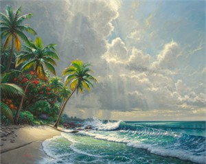 """Mark Keathley Limited Edition Hand-Embellished Canvas Giclee:""""Clearing Storms"""""""